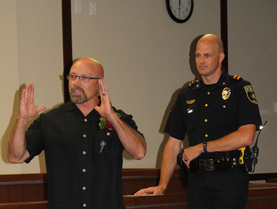Retiring chief lauded for caring traits