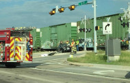 Train wreck traffic hinders motorists