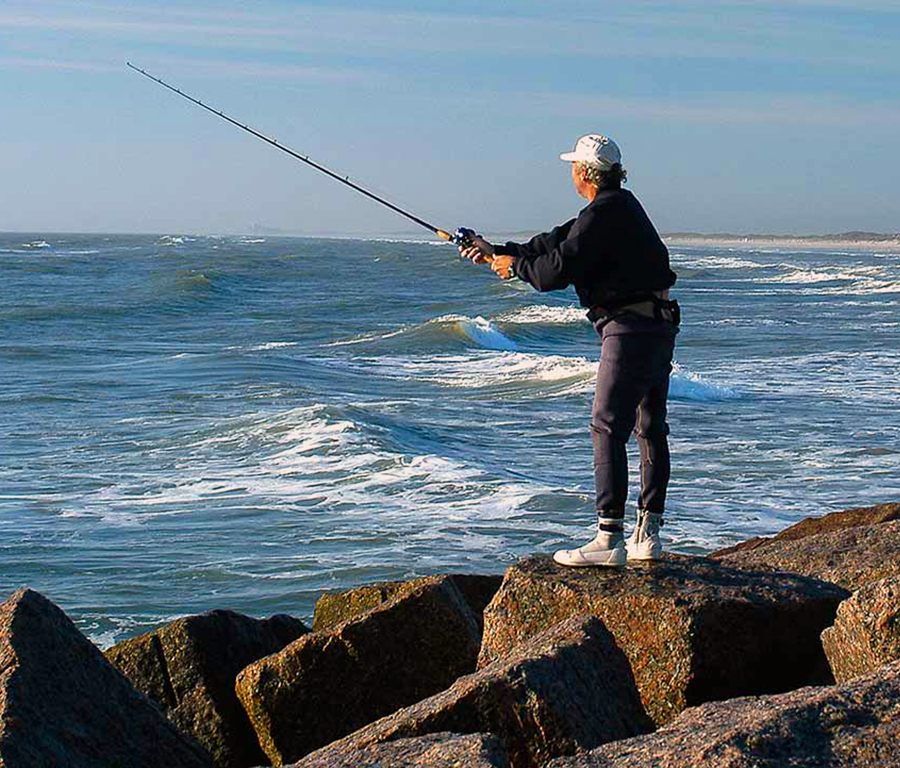 Fishing is a big hit within the confines of the Mustang Island State Park.