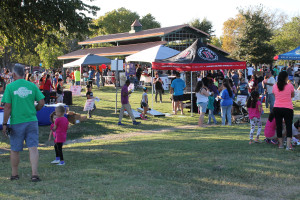 A good sized crowd wandered among the displays set up at Olde Town Park for the 2015 National Night Out observance.