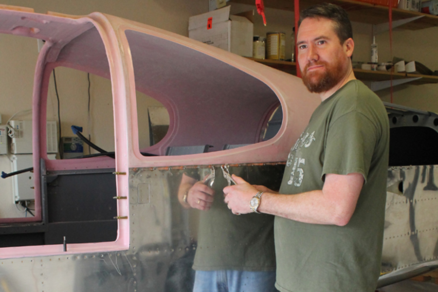 Local hobbyist builds plane rivet by rivet