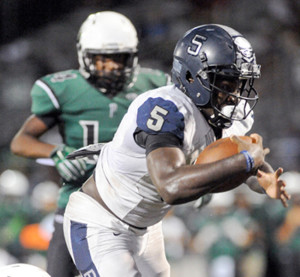 Evan Ghormley/The Wylie News Wylie East standout running back Eno Benjamin was the District MVP.