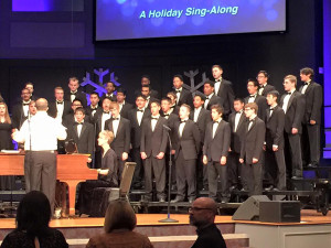 The Wylie High School choir performed their Holiday Concert last week to a packed audience. The group performed 'We Wish You a Merry Christmas', 'Rudolph the Red Nosed Reindeer', 'Jingle Bell Rock' and 'Let it Snow'.