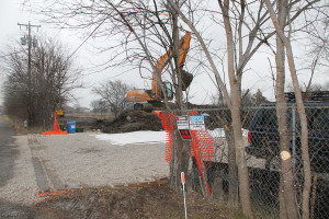 A strip of soil that had been paved over as a highway construction example is removed from a former industrial site in Wylie because the soil was contaminated with lead. The removal is contracted be the Environmental Protection Agency.