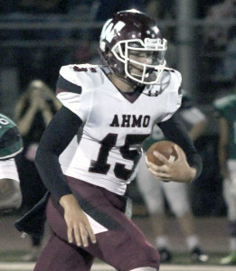 Quarterback Emilio Ames was the Pirates' Offensive MVP.