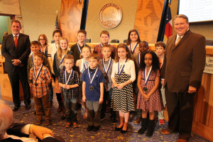 Wylie Way kids were recognized during the Feb. 9 City Council meeting for their efforts during the second nine weeks of school.