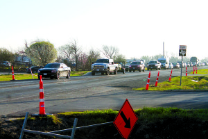 The intersections where FM 1388 and FM 2415 converge is being widened to help relieve congestion.