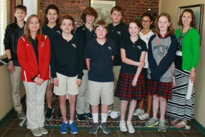Charlene Loggins/The Wylie News Photography students from Wylie Preparatory School visited The Wylie News office on April 4 to learn about different types of careers for photographers. Front row left to right: Gabrielle Schrick, Luke Wilson, Brenin Sherman, Abigail Montgomery, Regan Phillips Back row left to right: Oliver Rhodes, Joellie Anderson, James Wood, Ian McCracken, Julia Davis, Kelly McMullin (instructor)