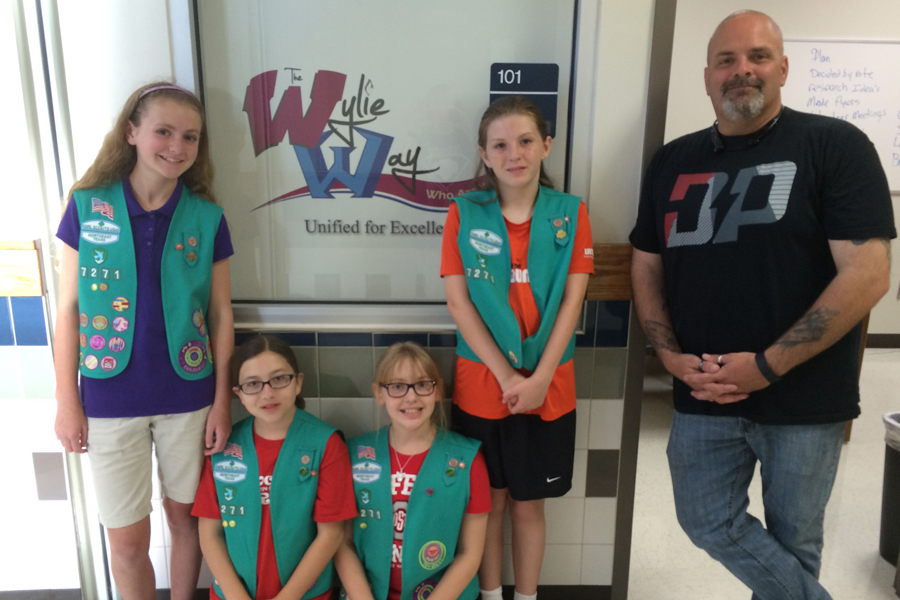Girl Scouts help families
