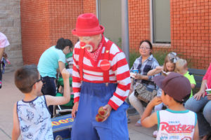 Boocoos of fun was had by those who stopped by to see Boocoos the Clown at the Summer Reading Kickoff at the Wylie Municpal Complex June 10.