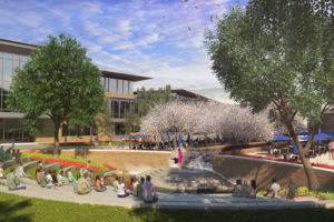 A small amphitheater that can be used as an outdoor learning center is one of the concepts on the drawing board for the Collin College campus to be built in Wylie in 2020.