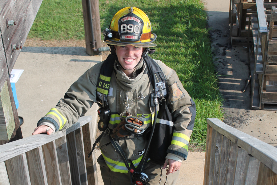 Firefighter to make three climbs