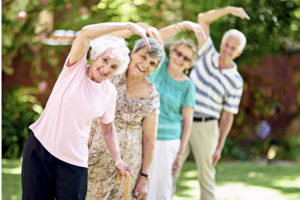 Exercising is important to the overall health of seniors.