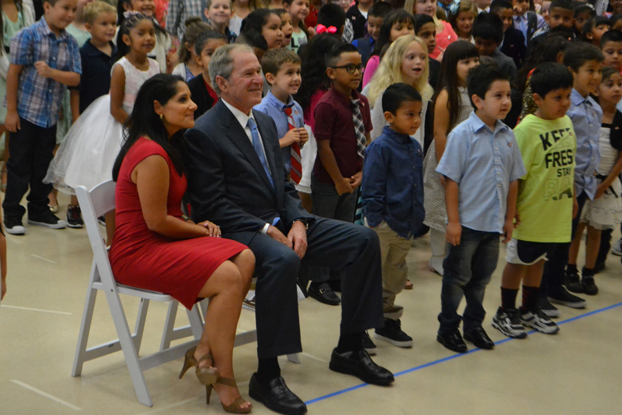 President Bush dedicates school