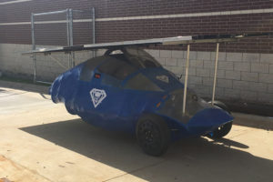 Wylie East students on the Solar Car Team created a solar-powered car and will participate in the Winston Solar Car Challenge in April 2017.