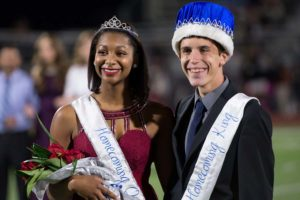 Crowned as the WEHS Homecoming king and queen during halftime Oct. 21 at Wylie Stadium were Kayla Brown and Brandon Spiegel. The Raiders faced West Mesquite and lost 7-0.