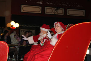 Santa and Mrs. Claus will ride into town again this year.