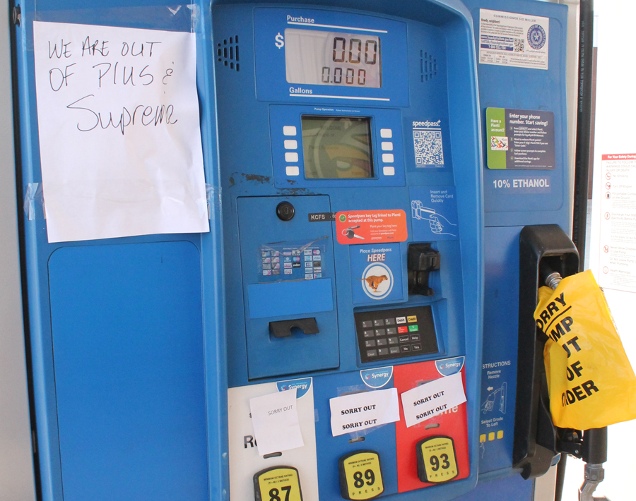 Wylie gas stations run short of fuel