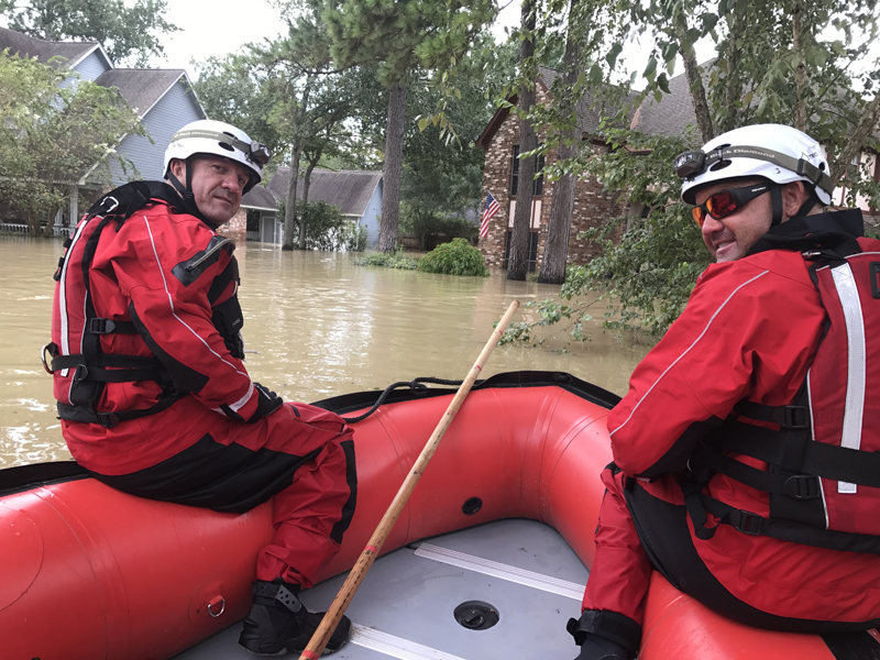 Wylie first responders help on the coast
