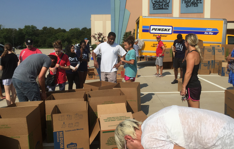 Chase Oaks-Woodbridge coordinates Trusted World donations