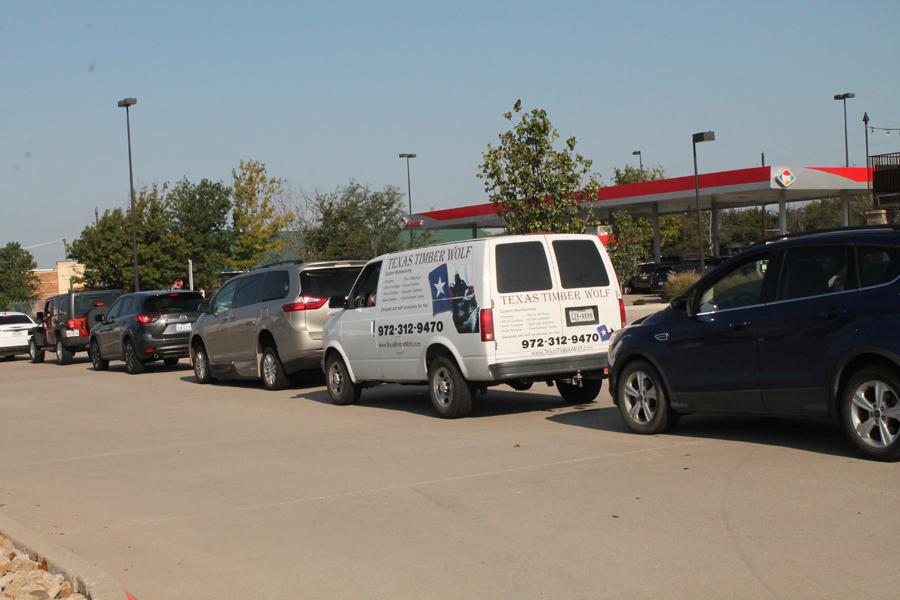 Motorists still lining up at pumps