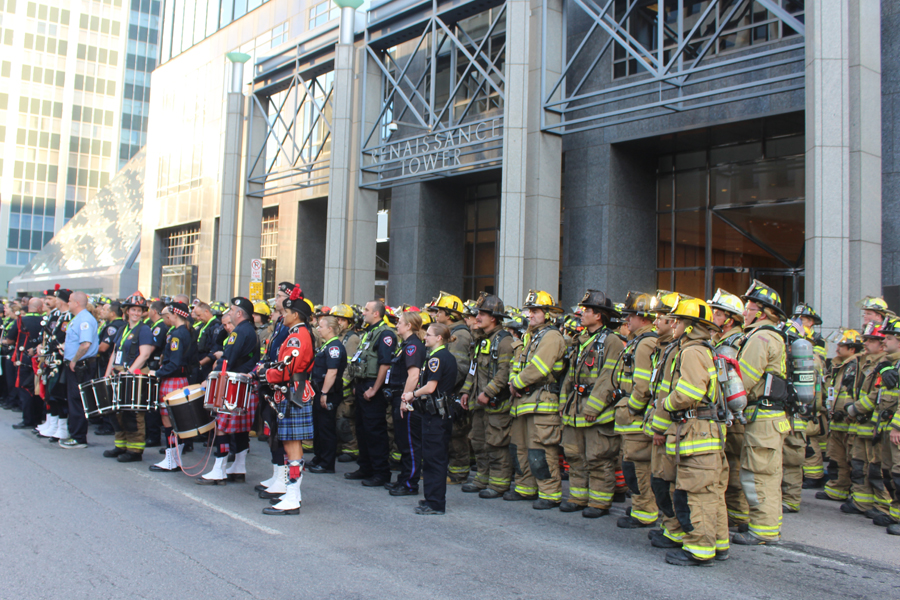 Wylie firefighters join first responders at Dallas Stair Climb