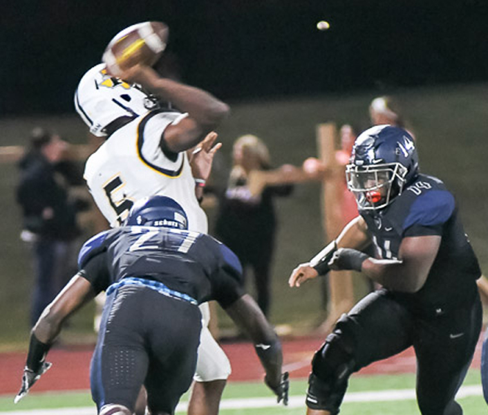 East erases Forney 50-43 for first district win