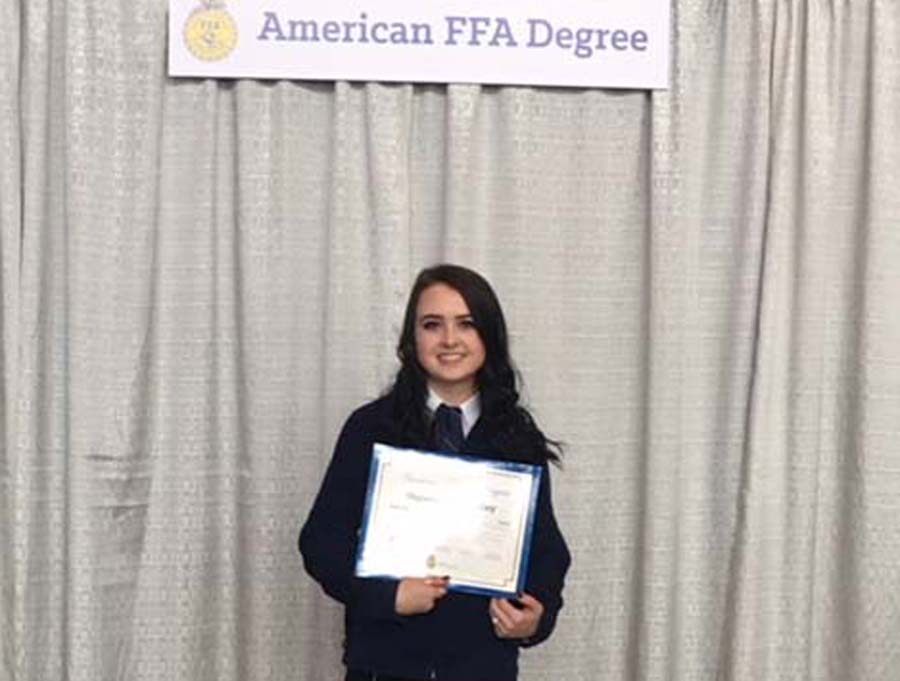 WEHS grad earns highest FFA degree