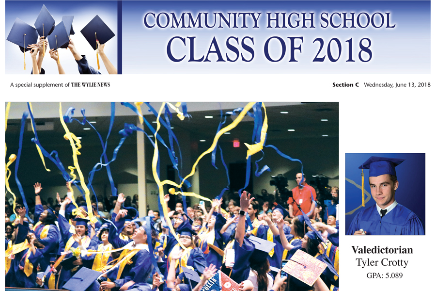 Copies of Community High Graduation Section available