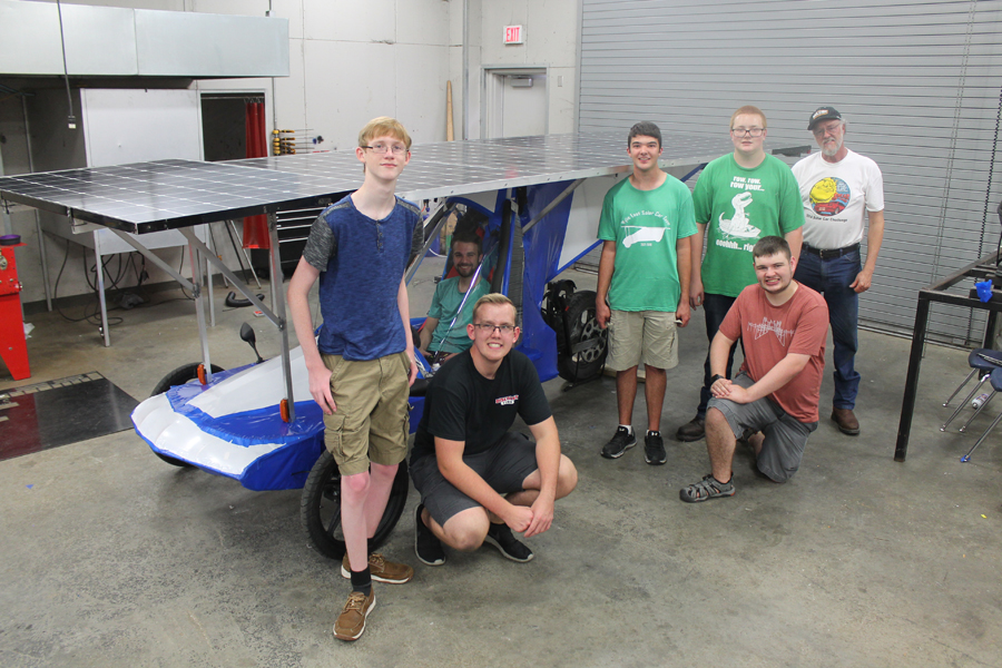 Solar Car team racing to California