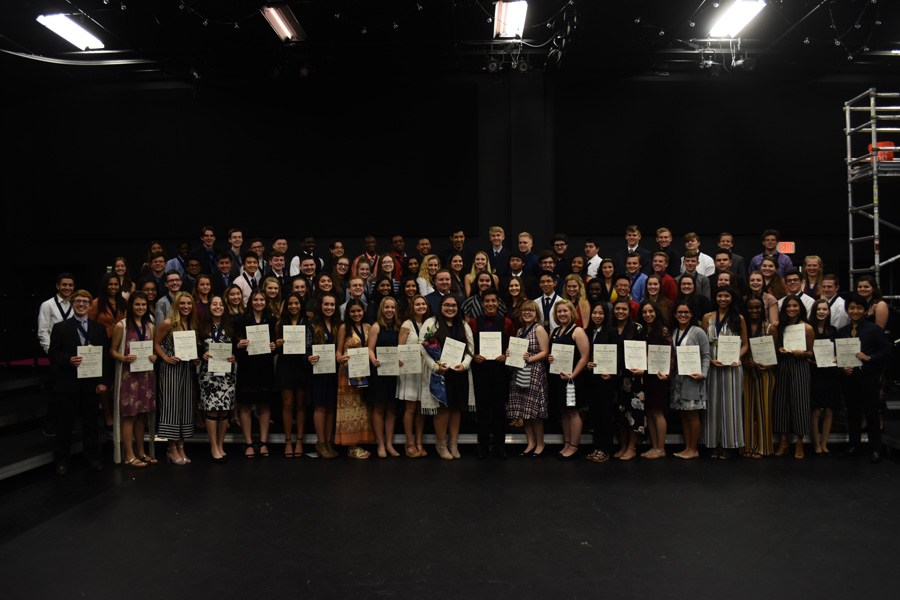 NHS inducts 95 members at ninth annual ceremony