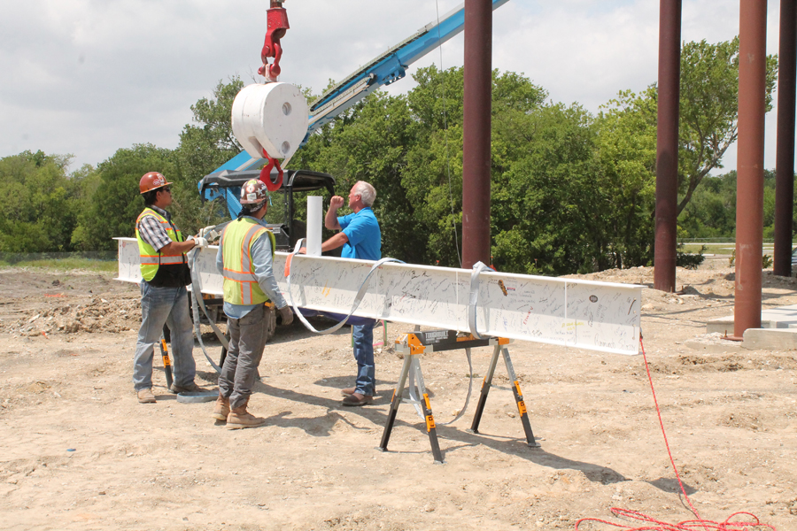 Celebration held at Collin College construction site