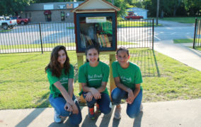 Girl Scouts install lending library at Olde City Park