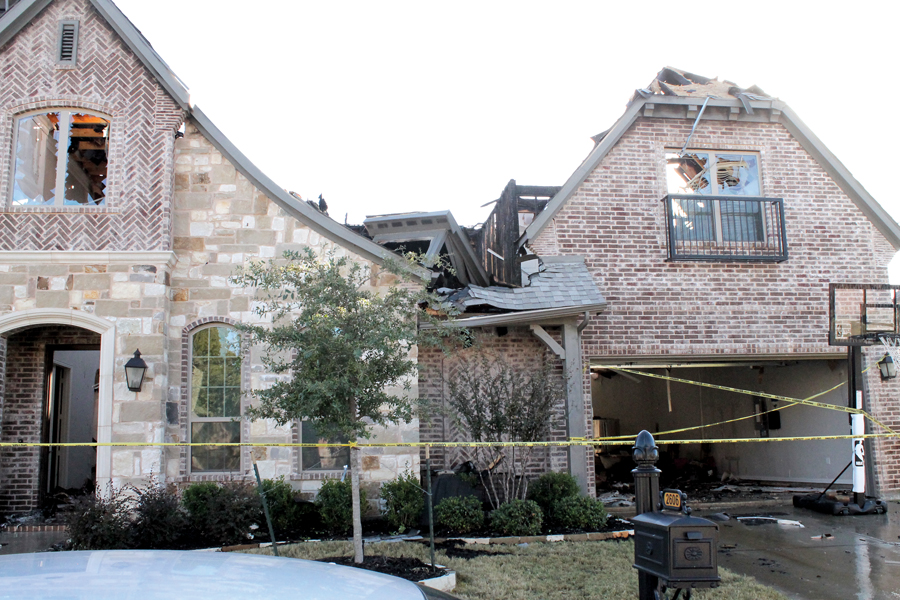 Storms, lightning damage houses