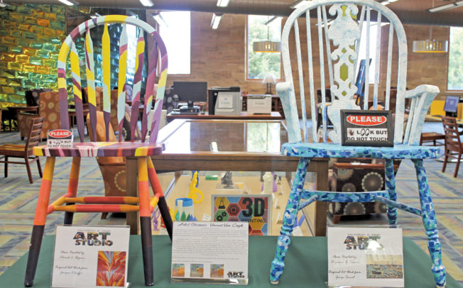 MJHS students turn chairs into art