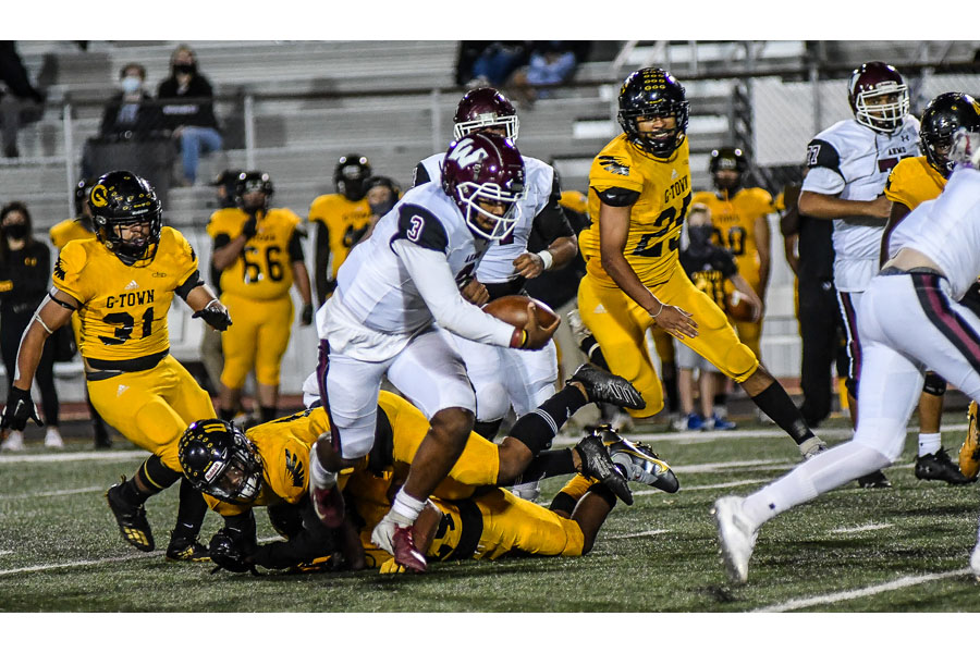 Wylie's Marcus McElroy's five touchdowns down the Owls