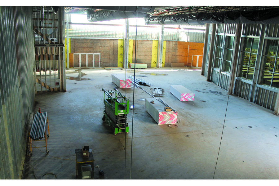 Trustees witness construction progress