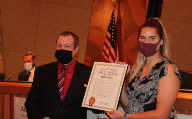 Council honors Wylie High School grad Sarah Fuller