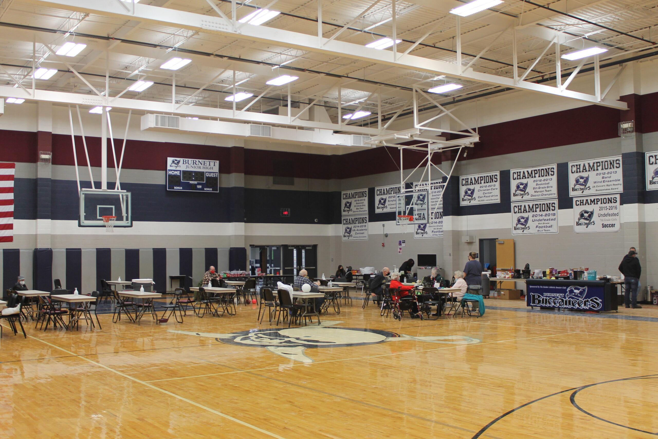 Burnett serves as shelter for local residents during storm