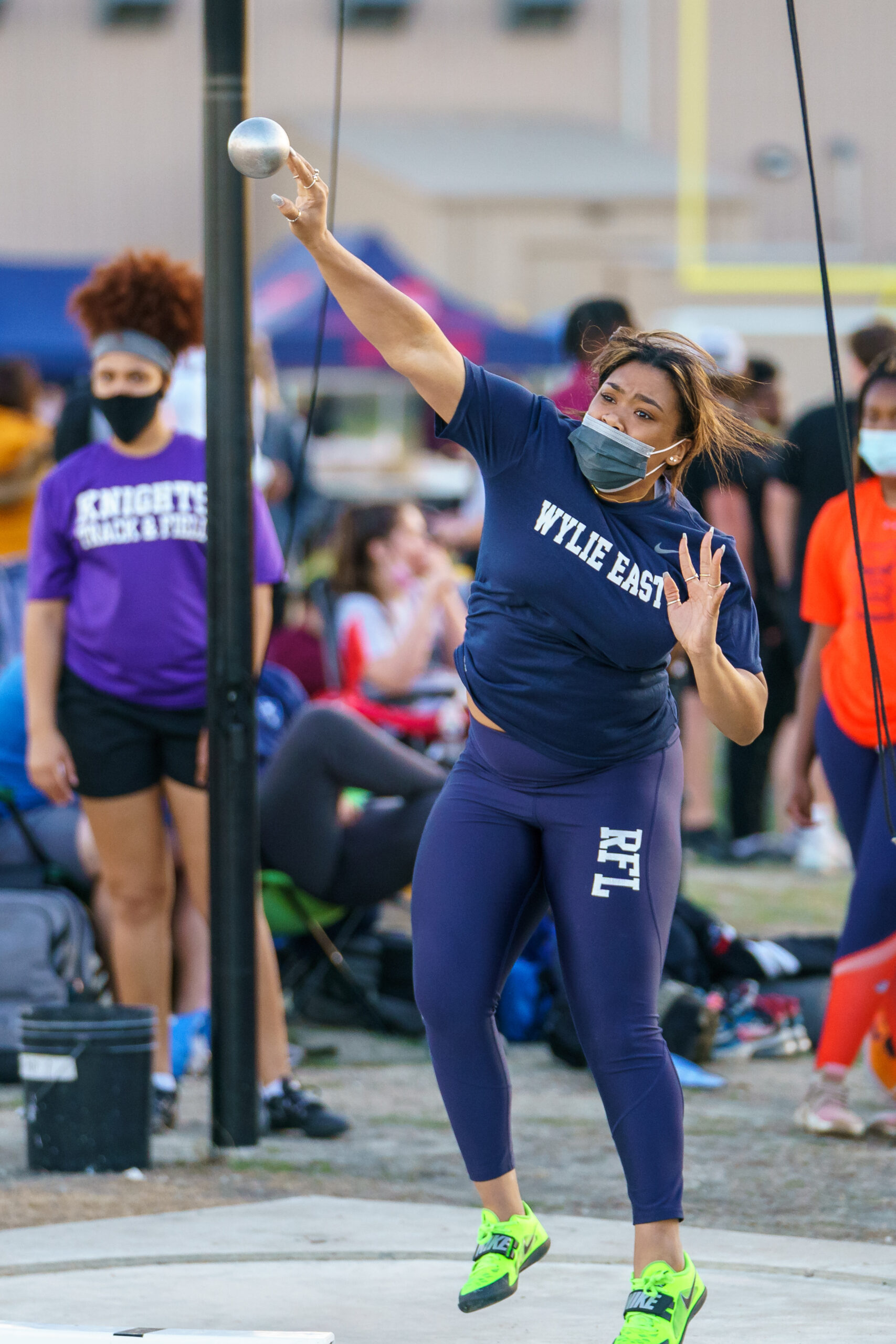 Lady Raiders earn third in district track and field meet