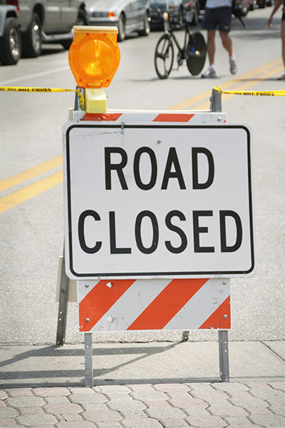Road closed in Wylie