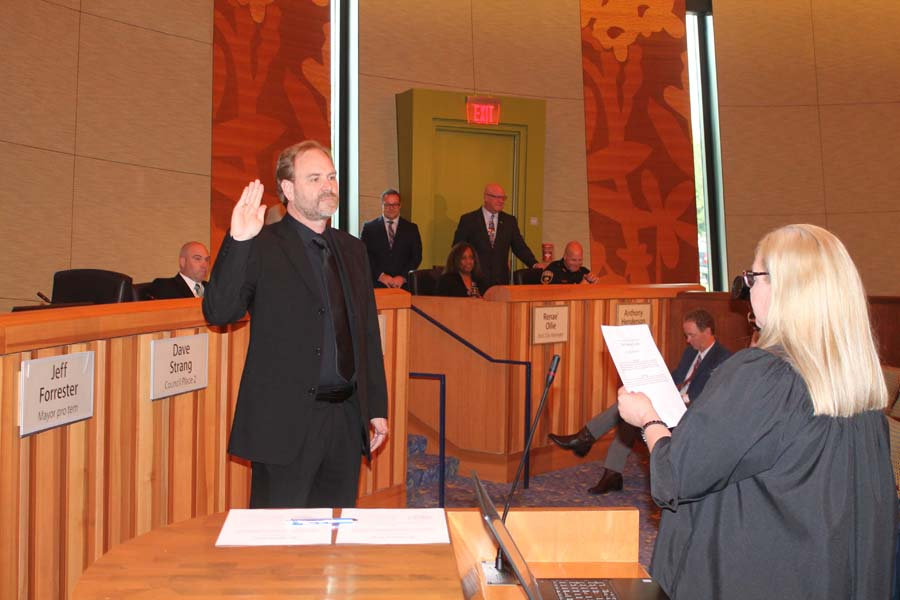 Parking, density cited as reasons for townhome denial; newly elected councilmembers sworn in
