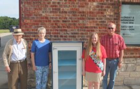 Student contributes collection boxes to center